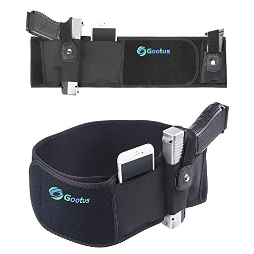 Belly Band Holster for Concealed Carry - Breathable Neoprene Waist Holster for Men and Women - Fits Glock, Ruger LCP, M&P Shield, Sig Sauer, Ruger, Kahr, Beretta, 1911, etc (Left)