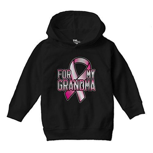 or My Grandma - Breast Cancer Awareness Toddler Little Boy Hoodie Sweatshirt (5/6, Black) (Cancer Kids Hoodie)