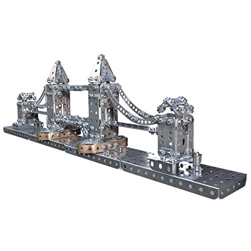 Meccano Tower Bridge Model Building Set, 742 Pieces, For Ages 10+, STEM Construction Education Toy (Bridge Construction Set)