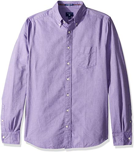 GANT Men's The Fitted Oxford Shirt, Strong Purple XL ()
