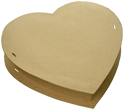 Large Heart Box - Paper Mache Box-Heart 12