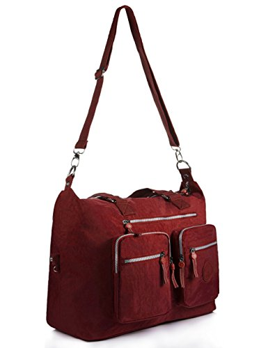 Weekender blue Navy 1212 1212 Travel Tote Nylon Bag Large Red 60tUwxCq