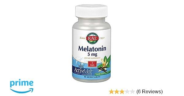 Amazon.com: Kal 5 Mg Melatonin Tablets, Vanilla Mint, 90 Count: Health & Personal Care