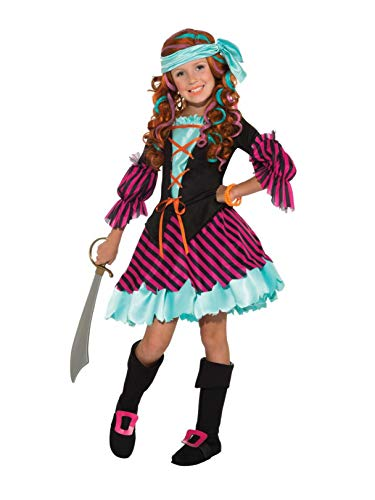 Salty Taffy Girl's Pirate Costume, Small]()