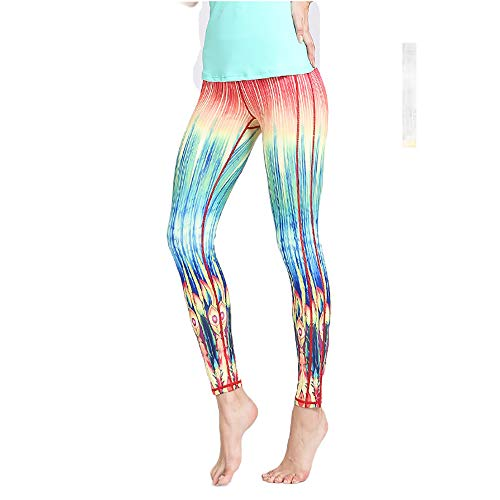 Slim Printed Yoga Pants for Women and Girls Quick-drying Breathable Sports Fitness Tummy Control Butt Lift Dance Pants - Lift 686