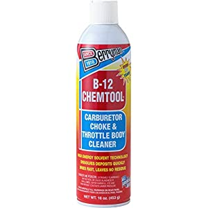 Berryman 0117 B-12 Chemtool Carburetor, Choke and Throttle Body Cleaner, Not VOC compliant in some states, 16 oz.