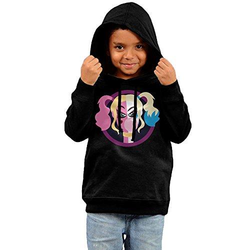 Kid's Harlequin With Bubble Gum Fleece Hoodie Sweatshirt 2 Toddler