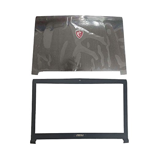 New Laptop Replacement Parts for MSI GE72 2QD Apache PRO MS-1792 MS-1795 MS-1799 (LCD Top Cover Case+LCD Front Bezel Cover ()