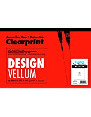 "Clearprint Plain Vellum Pad - PDVellum Pad, 50 Sheets, Acid-Free, 11""x17"", White"