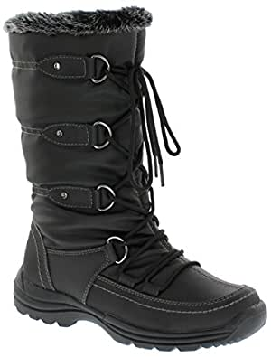 Amazon.com   Weatherproof Women's Moria Snow Boot, Black