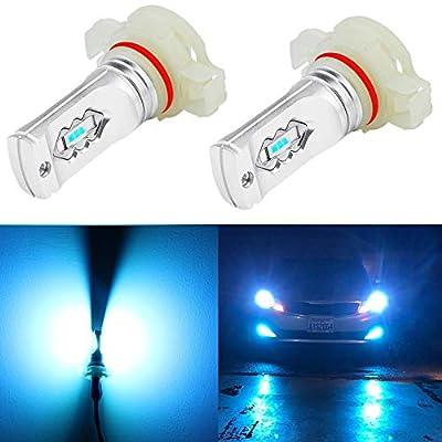 Alla Lighting 3600lm Xtreme Super Bright 5201 5202 LED Bulbs 5202 Fog Light High Illumination ETI 56-SMD LED 5202 Bulb 5201 PS19W 12085 5202 Fog Lights Lamp Replacement - 8000K Ice Blue