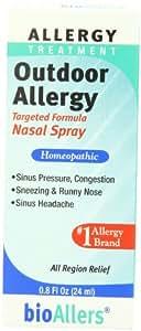 Bioallers Outdoor Allergy Nasal Spray, 0.8-Ounce