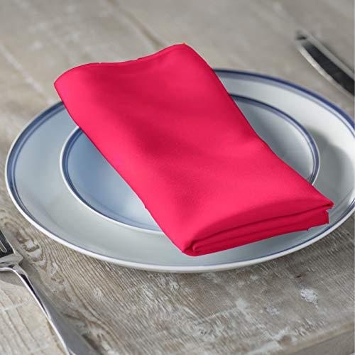 LA Linen 10-Pack Polyester Poplin Napkins, 18 by 18-Inch, Fuchsia]()