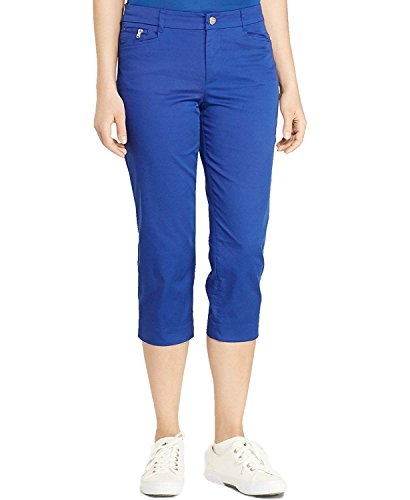 [Ralph Lauren Women's Stretch Twill Straight Leg Cropped Pants Blue size 10] (Stretch Twill Straight Leg Cropped Pants)