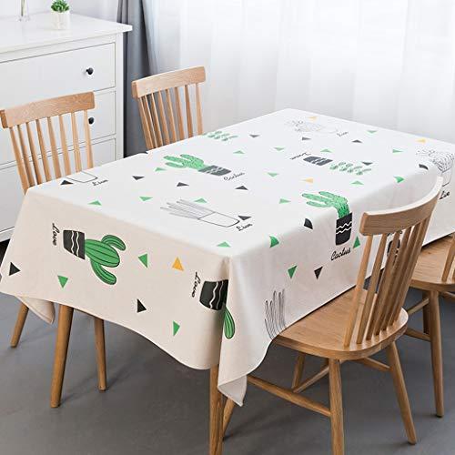 3 140200cm Nappe de ménage fraîche épaisse de nappe de table rectangulaire épaissie de tissu de coton (Couleur    3, taille   140  200cm)