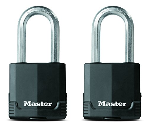 Master Lock M515XTLHCCSEN 2-1/8-Inch Wide Magnum Covered Laminated Steel Padlock, 3/8-Inch Diameter, 2-Inch Shackle Clearance, Twin Pack