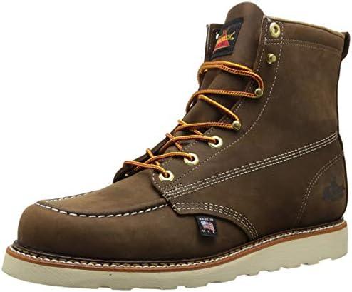 Thorogood Mens American Heritage 6 Moc Toe MAXwear Wedge Safety Toe Boot American Heritage 804-4200-M