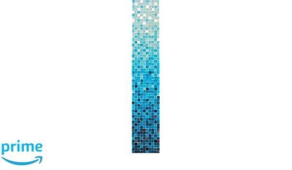 8.5-Feet by 1.5-Feet JP London uStrip Lite UCLT9018 Prepasted Mural Cool Breeze Gradient Tile tone Blue Water