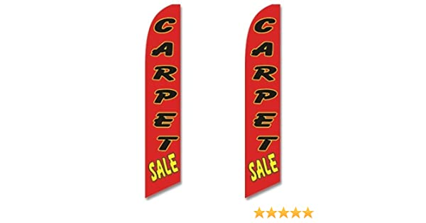 3 Pack Swooper Flags /& Pole Kits Red with Black Yellow Text CARPET SALE Three