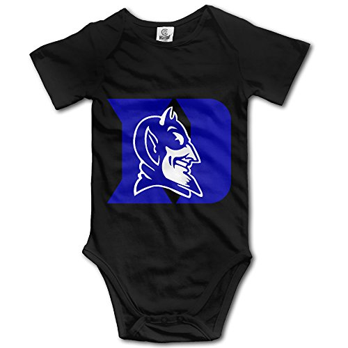 Price comparison product image OOKOO Baby's Duke University Blue Devils Logo Bodysuits Black 6 Months