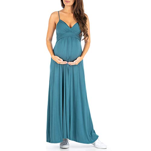 Ruched Thin Strap Dress - Women's Cami Strap Ruched Maternity Dress - Made in USA