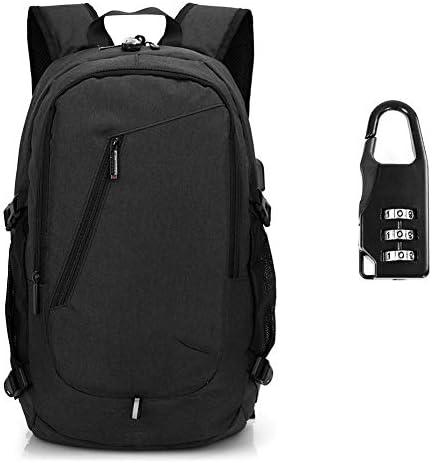メンズバックパック,盗難防止用コンピューターバッグ、USBインターフェイスキャンバスバッグを備えた大容量のビジネスバックパック