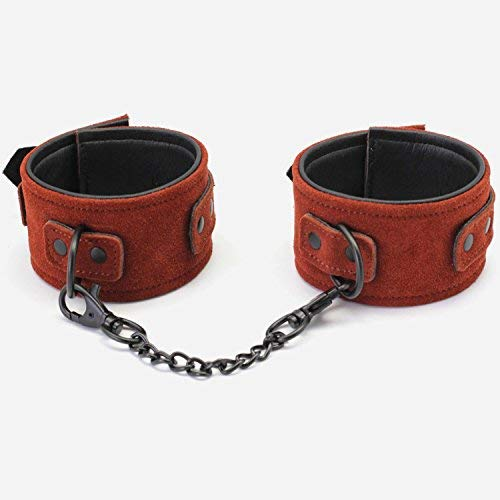 Sexvv Game BDSM SM New Arrival Luxury Top Leather Ankle Cuffs Brown Suede Feet Sexvv Restraint Products Adult Toys,sm Games, YERTU Shirt by YERTU Shirt (Image #4)