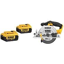 DEWALT DCB204-2 20V Max Premium XR Li-Ion Battery, 2-Pack & DEWALT DCS391B 20-volt Max Li-Ion Circular Saw, Tool Only