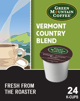 K-cups Country Vermont Blend (Green Mountain Coffee Fair Trade Vermont Country Blend K-Cup (96 count))