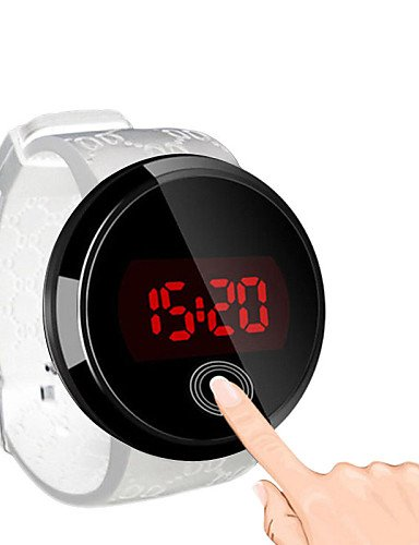 56a92c09df9 Amazon.com  Use Relogio Masculino Men s LED Touch Screen Digital Wristwatch  Silicone Waterproof Date Clock Watches Men Sports Watch