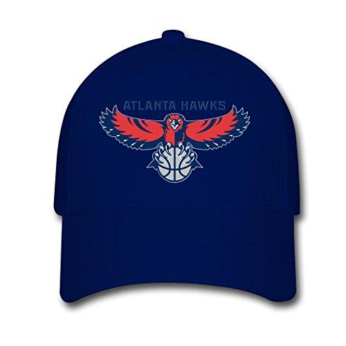 Woman Men Cotton Atlanta Hawks 2016 Logo Adjustable hats Baseball caps Navy (Atlanta Hawks Fitted Cap)