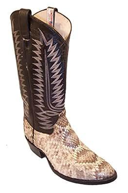 Amazon.com | Cowtown Diamondback Rattlesnake Cowboy Boots