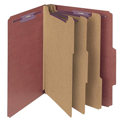 [Smead Pressboard Classification File Folder with SafeSHIELD Fasteners, 3 Dividers, 3
