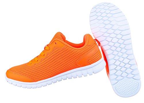 Damen Freizeitschuhe Schuhe Runner Sportschuhe Sneakers Schwarz Dunkelblau Orange Pink Rosa Weiß 36 37 38 39 40 41 Orange