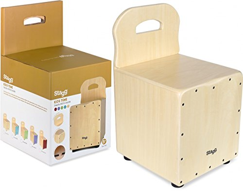 Price comparison product image Stagg CAJ-KID N Kids Cajon with EasyGo Backrest - Natural
