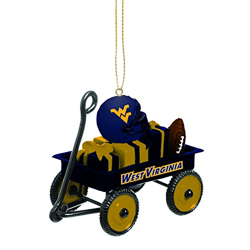 Team Sports America West Virginia Team Wagon Ornament (West Virginia Mountaineers Ribbon)