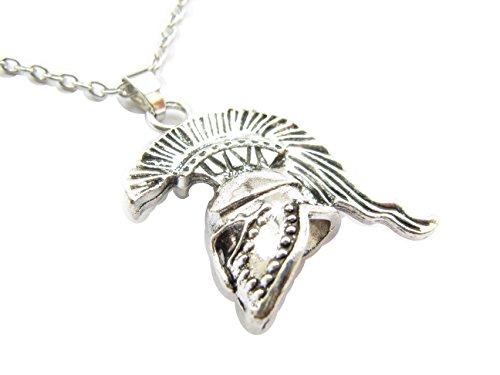 Spartan Necklace Sparta Jewelry Spartan Helmet Necklace Charm Necklace Boyfriend -