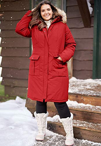 ec74122d9ce Woman Within Plus Size The Arctic Parka in Knee Length