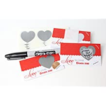 LoveNotes, Love Coupons, DIY Love Notes Scratch-Off Mini Cards Kit, Create your own Love Messages, Write your own Adult Romantic Vouchers, Scratch Off Heart, (25 cards) My Scratch Offs