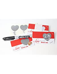 LoveNotes, Love Coupons, DIY Love Notes Scratch-Off Mini Cards Kit, Create your own Love Messages, Write your own Romantic Vouchers, Scratch Off Heart, (25 cards) My Scratch Offs BOBEBE Online Baby Store From New York to Miami and Los Angeles