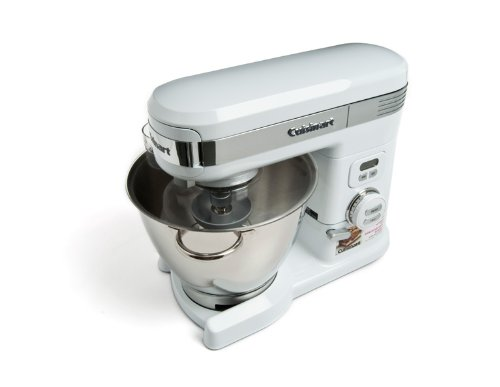 Cuisinart 5.5 Quart 12-Speed Stand Mixer SM-55, White Metal