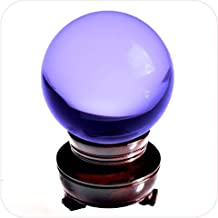 Amlong Crystal Purple Crystal Ball 80mm (3.1 in.) Including Wooden Stand and Gift Package