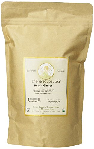 Zhena's Gypsy Tea Peach Ginger Organic Loose Tea, 16-Ounce Bag