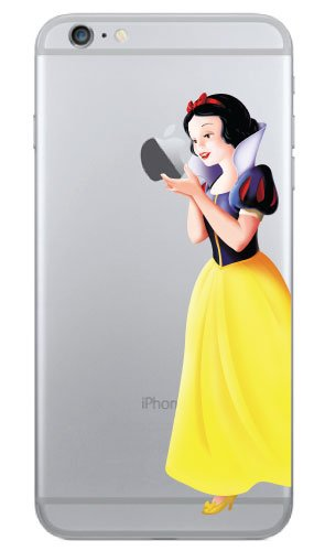 premium selection 960b0 dcfe1 iPhone 6 Snow White Holding Apple Vinyl Decal 4.7