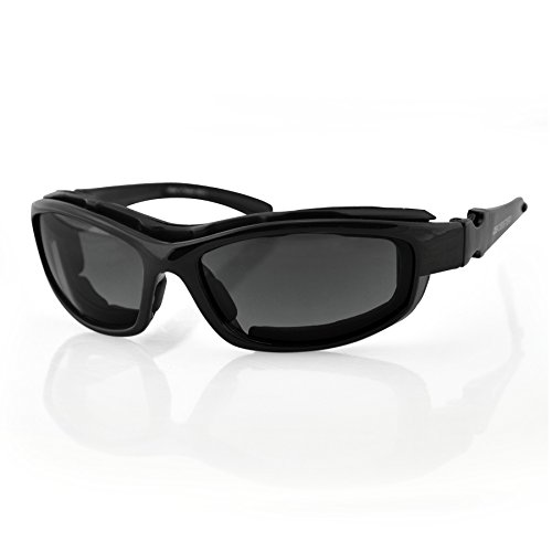 Bobster Road Hog II Convertible Sunglasses, Black Frame/4 Lenses (Dual Grade Reflective/Smoked/Amber and - Sunglasses Myer