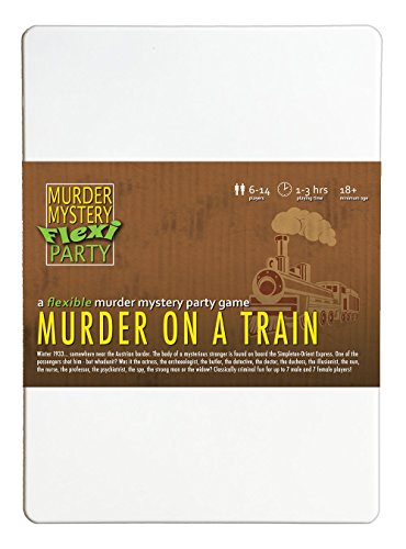 Murder Mystery Flexi Party Murder on a Train 6-14 Player Dinner Party -