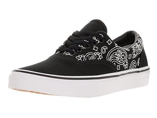 """Vans Era """""""" de punto de Bandana–este Classic Skate zapatos de Vans incluye un bonito Bandana impresión en la parte superior del material (bandana stitch) black/tr"""