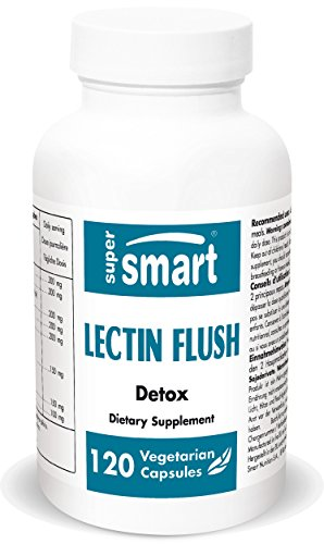 Supersmart – Detox – Lectin Flush – Support for Food Allergies, Sensitivities & Intolerances. for Healthy Gut and intestianles | Non-GMO – 120 Vegetarian Capsules.