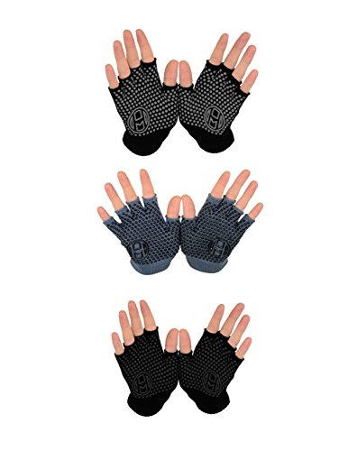 Mato & Hash Yoga Pilates Fingerless Exercise Grip Gloves – DiZiSports Store