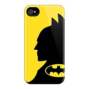 Durable Defender Case For Iphone 4/4s Tpu Cover(batman Face And Logo)